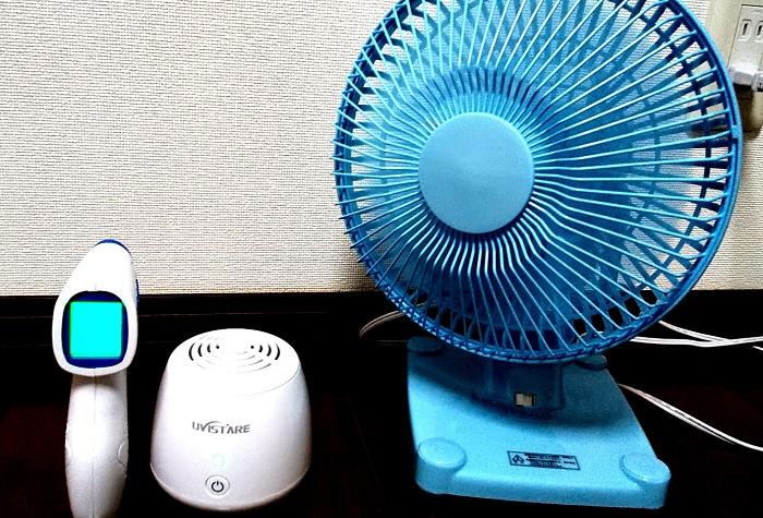 扇風機 体温計 空気清浄機