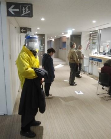 秋田市役所内 センタース 例会会場予約の様子